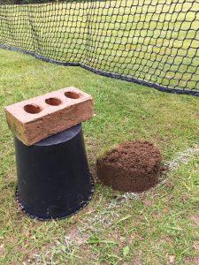 Mole building soil castles!